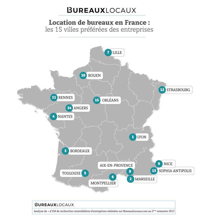 Les villes de France les plus recherchées par les entreprises