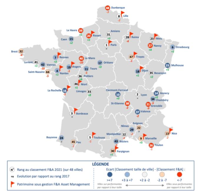 carte de France étude F&A