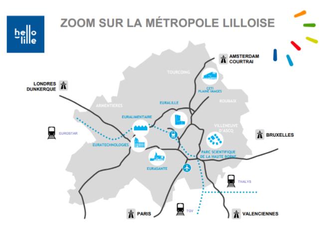 zoom sur la métropole Lilloise